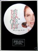 "BELINDA CARLISLE-Framed 12""Picture Disc-LIVE YOUR LIFE"